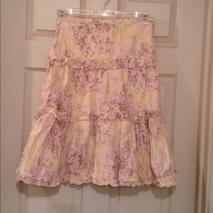 Pale Peach and Lavender Skirt